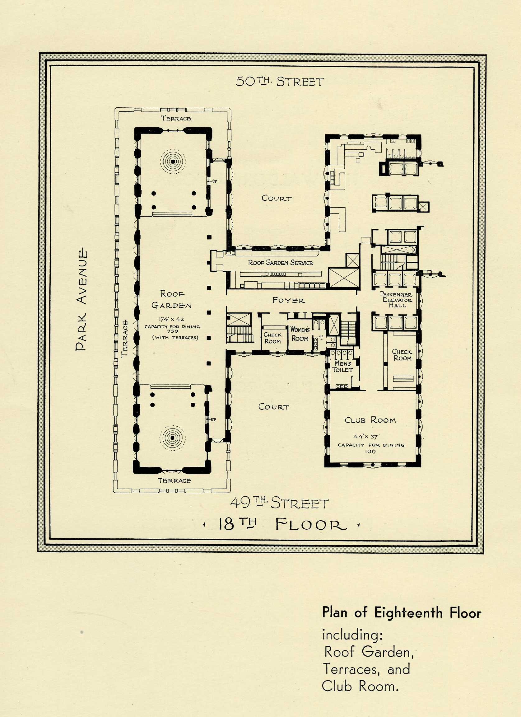 the waldorf astoria rooftop garden waldorf astoria new york floor plans featuring the